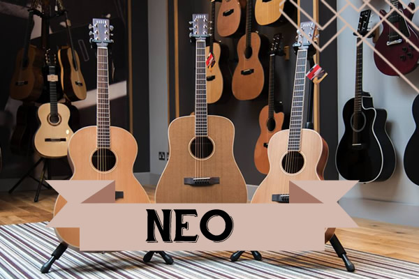 Neo range of Auden Guitars - front page graphic