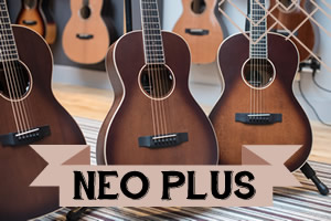 Neo Plus Auden Guitars Range - Front page graphic