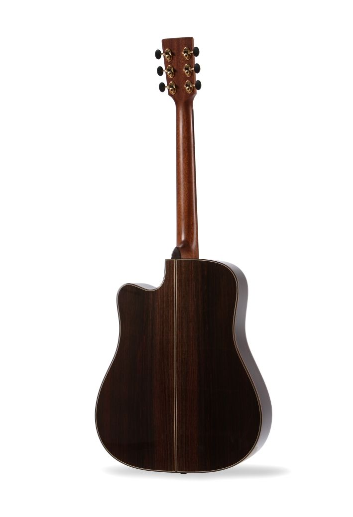 Colton Dreadnought Cutaway Auden Guitar product image back