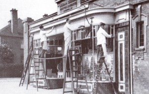 Co-op Building 1948 - redecorating