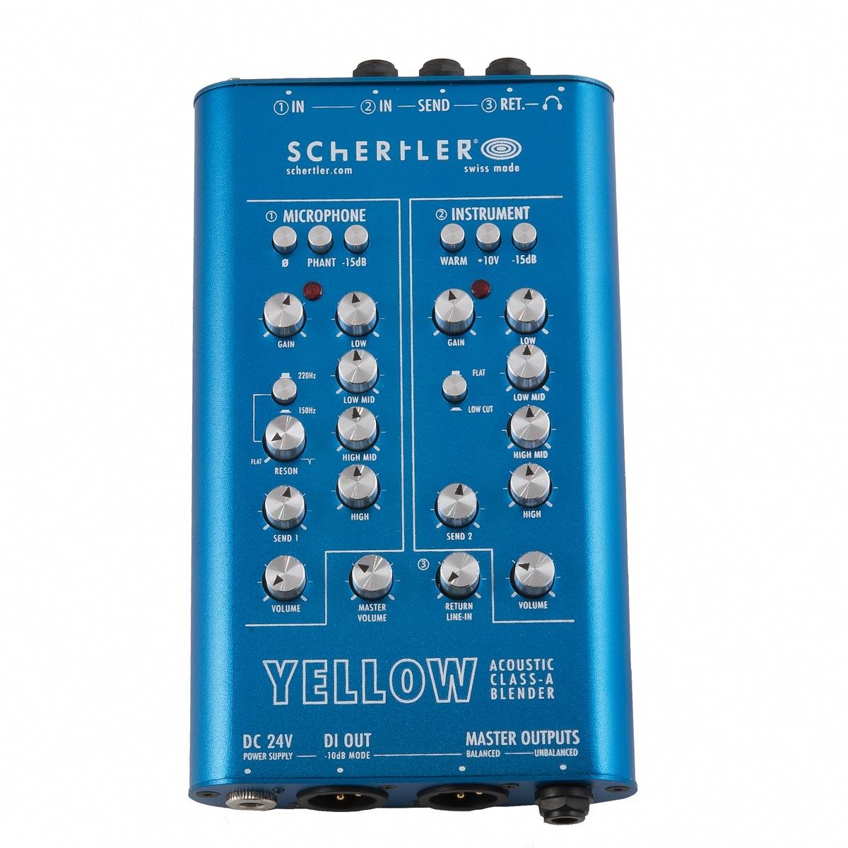 Yellow Blender preamplifier - top