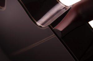 Bowman cedar Auden acoustic guitar back neck detail image