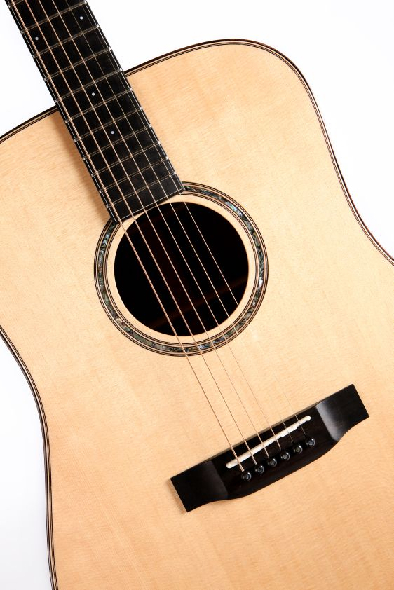 Auden Dreadnought Acoustic guitar Colton Spruce Full Body Close Up