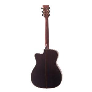 Bowman cutaway acoustic guitar back image