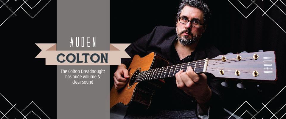 Auden Colton acoustic guitar page header graphic