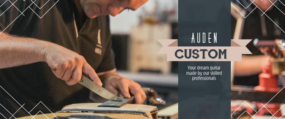 Custom Build guitars by Auden - header graphic