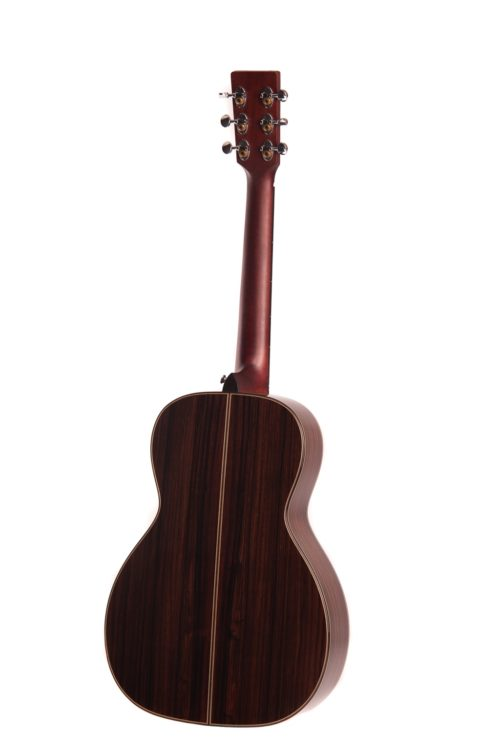 emily rose cedar fullbody acoustic guitar by Auden Guitars - rear image