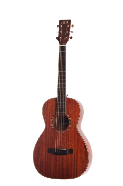 emily rose mahogany fullbody acoustic guitar by Auden Guitars - front studio image