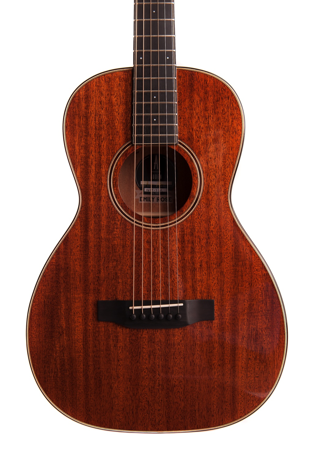 emily rose mahogany fullbody acoustic guitar by Auden Guitars - front image