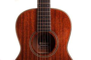 emily rose mahogany fullbody acoustic guitar by Auden Guitars - soundhole image