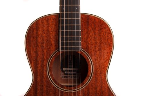 emily rose mahogany fullbody acoustic guitar by Auden Guitars - soundhole image