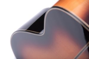 Marlow sunburst back close up - Auden acoustic guitars