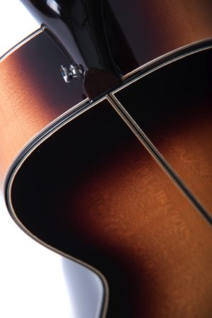 Marlow sunburst back shoulders - Auden acoustic guitar