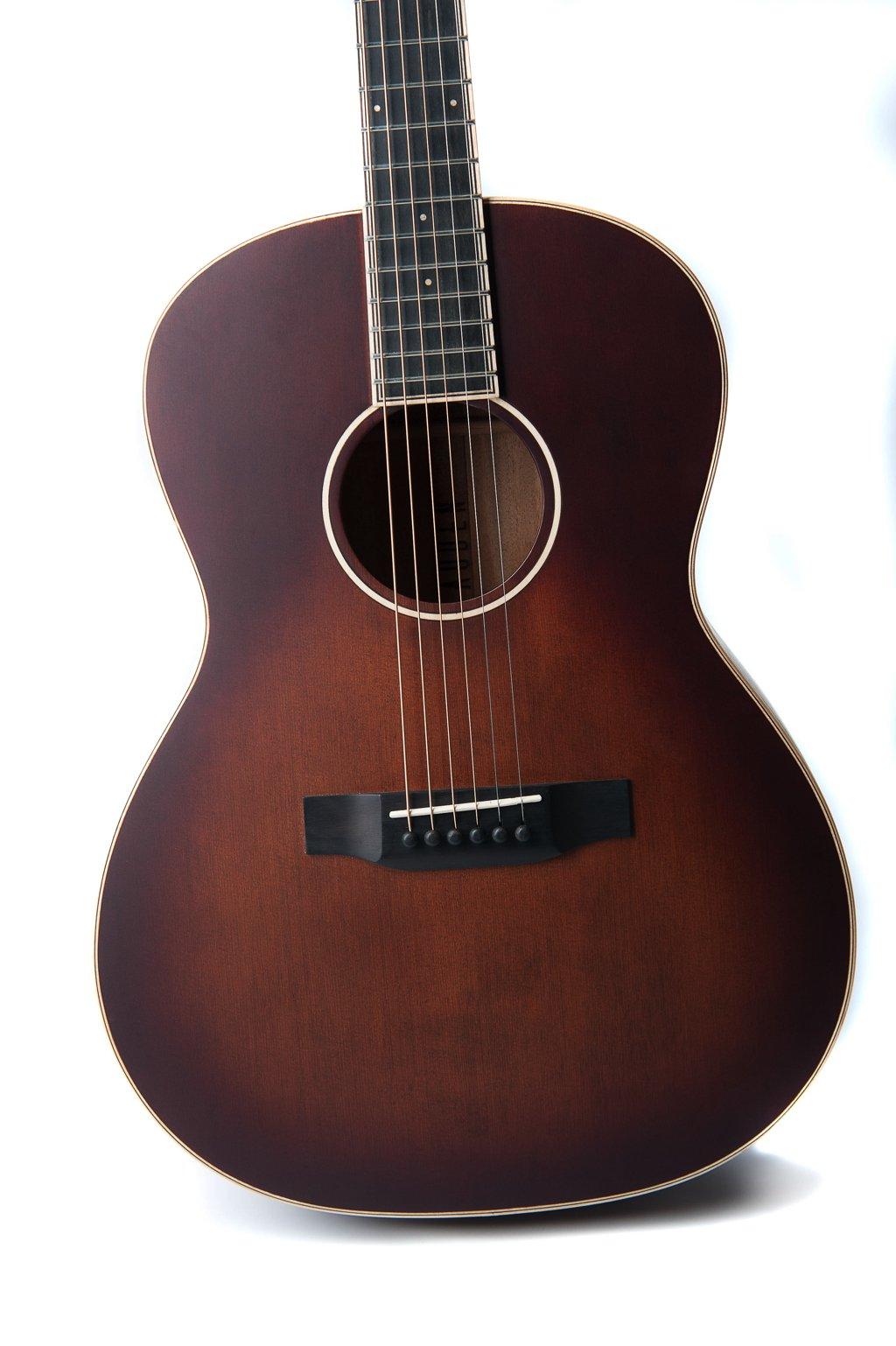 Julia acoustic guitar by Auden Guitars - jaunty front angle