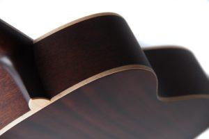 Julia acoustic guitar by Auden Guitars - top shoulders