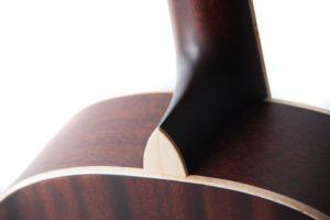 Julia acoustic guitar by Auden Guitars - back shoulders