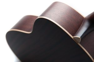 Julia acoustic guitar by Auden Guitars - side rear profile