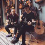 Jo Jeffery and Greg Coulson at Auden Guitars