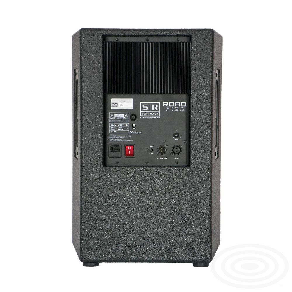 Road F12A active loudspeaker from SR Technology - rear image