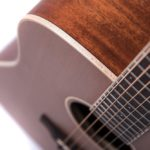 Colton Neo - acoustic guitar by Auden Guitars. Close up strings image.