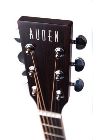 Colton Neo - acoustic guitar by Auden Guitars. Head stock image.