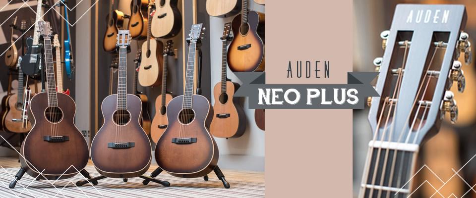 Neo Plus Range of Acoustic guitars Header graphic