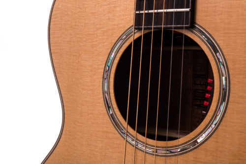 Artist Mahogany Chester Spruce Cutaway - soundhole image