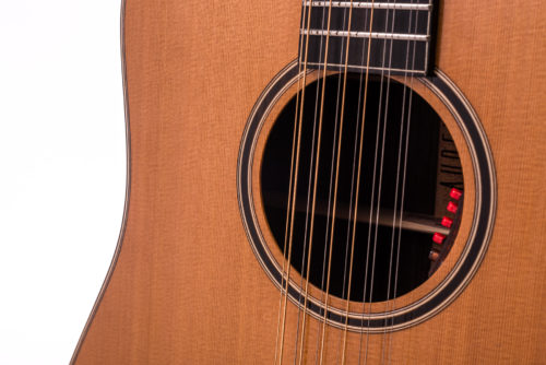 Artist Rosewood Colton 12 String Cedar Fullbody - soundhole image