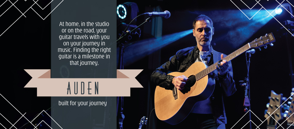 Auden acoustic guitars home page slider image