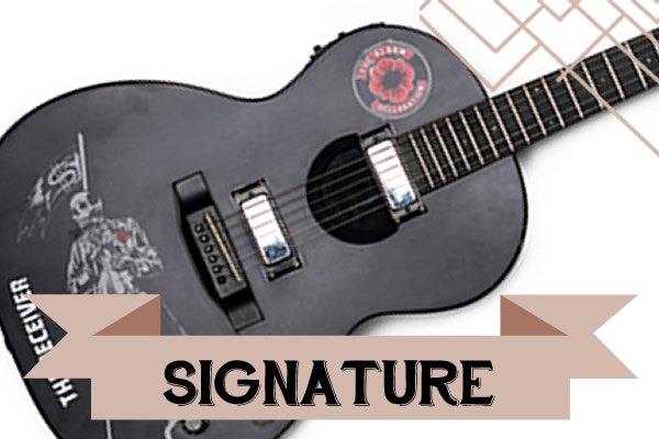 The Signature range of artist inspired acoustic guitars from Auden.