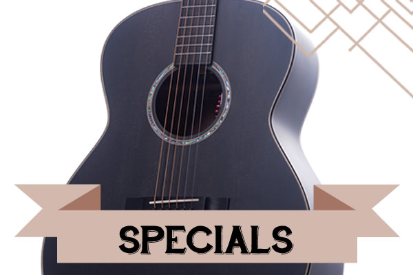 The specials range from Auden Guitars