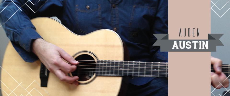 Austin acoustic guitar range header graphic