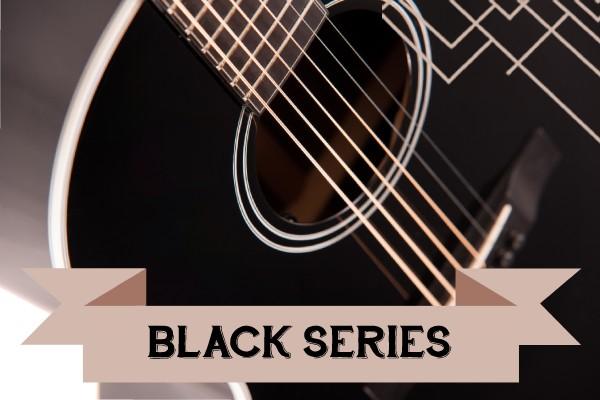 Black Series range of Auden Guitars graphic