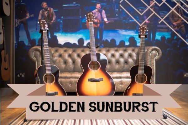 Golden Sunburst range of Auden Guitars graphic