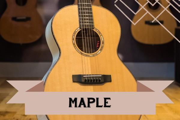 Maple range of Auden Guitars graphic