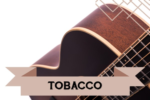 Tobacco range of Auden Guitars graphic
